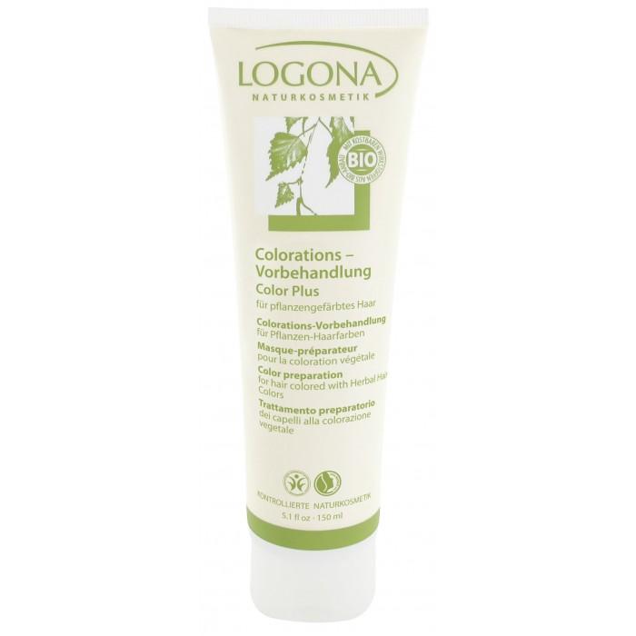 Косметика для мамы Logona Color Plus Средство для подготовки волос к окрашиванию 150 мл косметика для мамы logona восстанавливающий крем для волос с маслом жожоба 150 мл