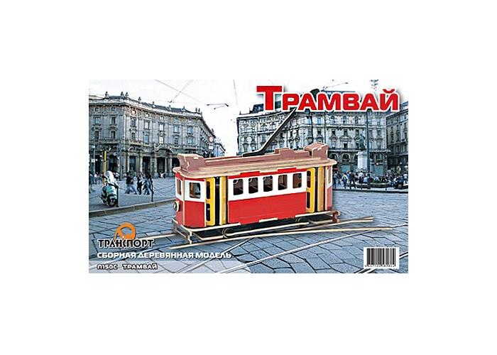 Конструкторы Мир деревянных игрушек (МДИ) Трамвай цветной технопарк трамвай