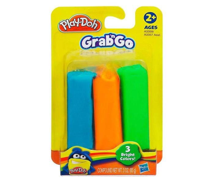 Всё для лепки Play-Doh Набор пластилина 3 цвета витраж из пластилина набор 1 зайчонок и лягушонок