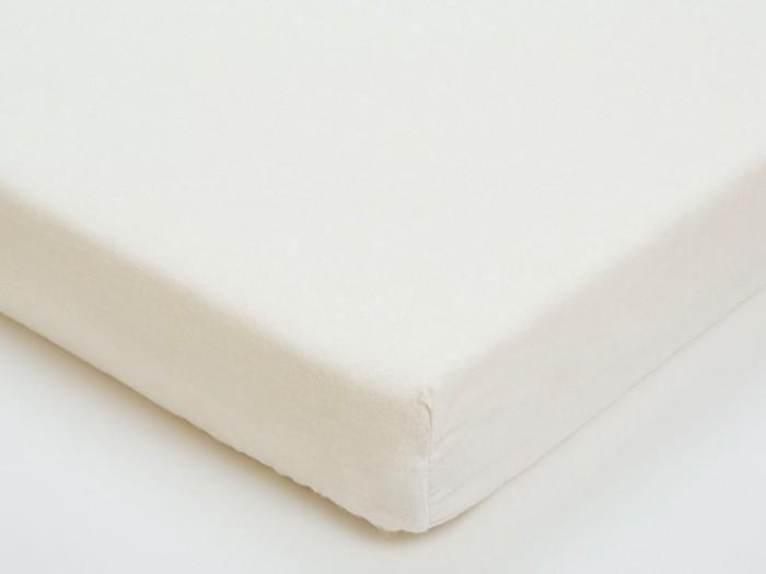 Простыни Giovanni Простыня на резинке фланель 120х60 Белая простыня на резинке хлопковый край