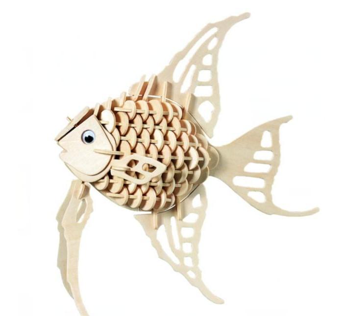 Конструкторы Мир деревянных игрушек (МДИ) Ангельская рыбка конструкторы мир деревянных игрушек мди бмв изетта