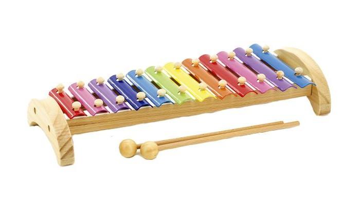 Музыкальные игрушки Мир деревянных игрушек (МДИ) Ксилофон металлический 12 тонов музыкальные игрушки