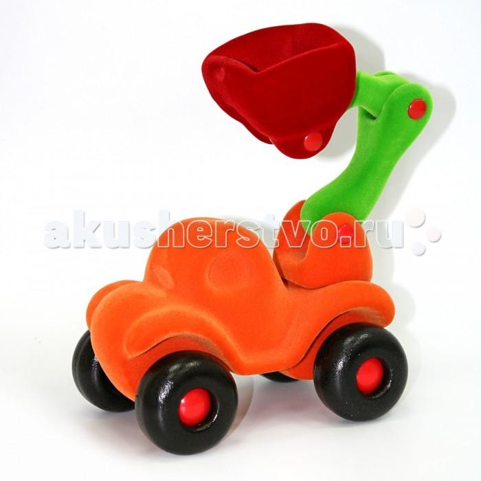 Машины Rubbabu Бульдозер из натурального каучука с флоковым покрытием 21 см машины rubbabu скутер из натурального каучука с флоковым покрытием 21 см