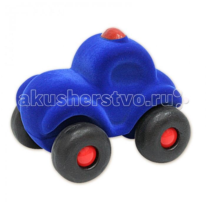 Машины Rubbabu Машина из натурального каучука с флоковым покрытием Полиция 21 см машины rubbabu скутер из натурального каучука с флоковым покрытием 21 см