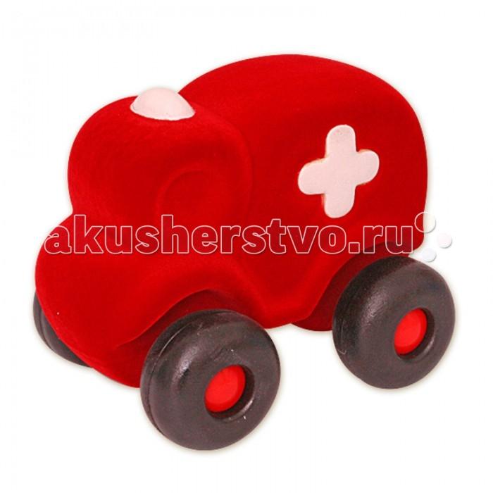 Машины Rubbabu Машина из натурального каучука с флоковым покрытием Скорая помощь 21 см машины rubbabu скутер из натурального каучука с флоковым покрытием 21 см