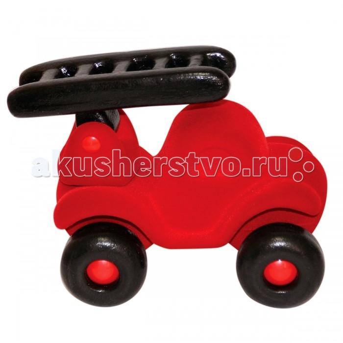 Машины Rubbabu Машина пожарная из натурального каучука с флоковым покрытием 21 см машины rubbabu скутер из натурального каучука с флоковым покрытием 21 см