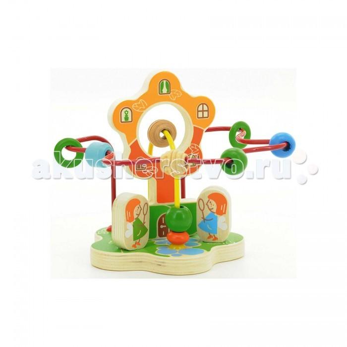 Деревянные игрушки Мир деревянных игрушек Лабиринт Цветок мир деревянных игрушек лабиринт бабочка малая д116