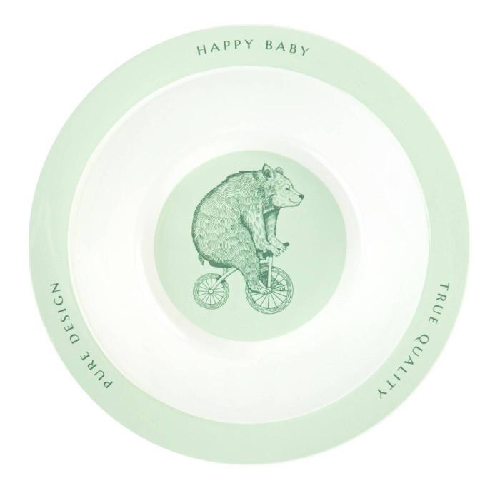 Посуда Happy Baby Глубокая тарелка для кормления Rusty-Champion happy baby бутылочка для кормления funny bunny 150 мл happy baby