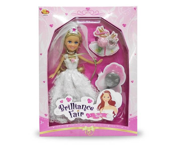 Куклы и одежда для кукол Brilliance Fair Кукла Невеста 26,7 см с расческой, кольцом и букетом funville кукла brilliance fair 26 7 см funville