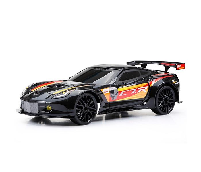 New Bright Машина р/у Corvette C7RМашина р/у Corvette C7RРадиоуправляемая машинка серии New Bright - замечательная игрушка, отличный подарок для каждого мальчика к любому празднику! Автомобиль марки Chevrolet Corvette C7.R - это очень мощный и агрессивный спорткар, поражающий своими характеристиками. О такой машине, несомненно, мечтает каждый мальчик!  Игрушка выполнена из высококачественных материалов, экологически чистых и безопасных для здоровья ребенка. Прочная и долговечная, машинка станет любимой игрушкой мальчика!  Модель выполнена в масштабе 1:12 и в точности копирует марку Corvette C7R.  Машинка передвигается как вперед-назад, так и влево-вправо, она способна развить скорость до 10 км/час.  Дальность действия дистанционного пульта управления достигает 30 метров.  Пульт работает на 2 батарейках типа АА (не входят в комплект), а машина - на 5 батарейках АА.<br>