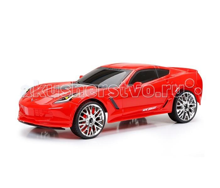 New Bright Машина р/у Corvette Z06Машина р/у Corvette Z06Машинка, несомненно - лучший подарок для каждого мальчишки, тем более радиоуправляемый. Автомобиль марки Chevrolet Corvette Z06 - это очень мощный и агрессивный спорткар, поражающий своими техническими характеристиками. Стоит ли говорить, что такая машина - мечта каждого мальчишки!  Игрушка выполнена из высококачественных материалов, экологически чистых и безопасных для здоровья ребенка. Прочная и долговечная, машинка станет любимой игрушкой мальчика!  Модель выполнена в масштабе 1:12 и в точности копирует марку Corvette Z06.  Машинка передвигается как вперед-назад, так и влево-вправо, она способна развить скорость до 10 км/час.  Дальность действия дистанционного пульта управления достигает 30 метров.  Пульт работает на 2 батарейках типа АА (не входят в комплект), а машина - на аккумуляторе 6.4V- его можно зарядить от компьютера при помощи USB кабеля, который также входит в комплект.<br>
