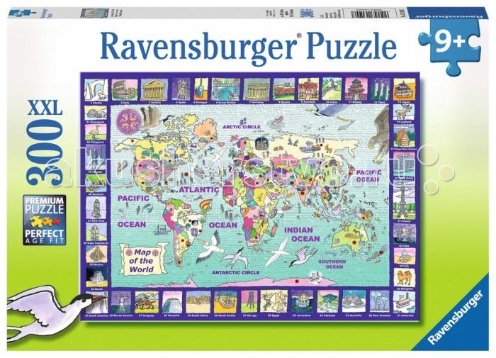 Пазлы Ravensburger Пазл Большая карта мира 300 элементов