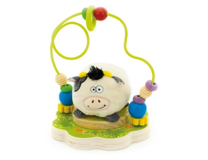 Деревянные игрушки Мир деревянных игрушек (МДИ) Лабиринт Буренка игрушка мир деревянных игрушек лабиринт каталка корова д361