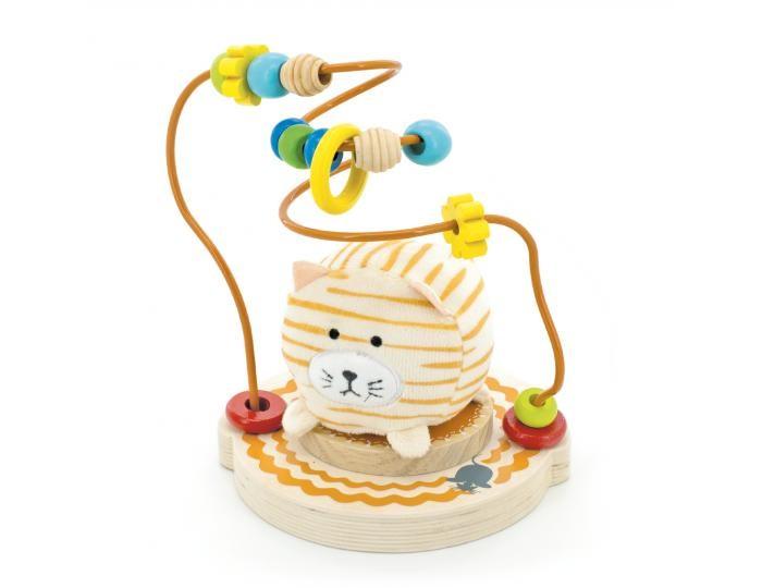 Деревянные игрушки Мир деревянных игрушек (МДИ) Лабиринт Мурлыка игрушка мир деревянных игрушек лабиринт каталка лев д359