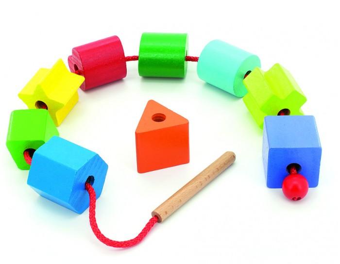 Деревянные игрушки Мир деревянных игрушек (МДИ) Бусы Геометрия деревянные игрушки мир деревянных игрушек мди лабиринт лев