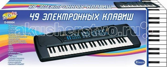 Музыкальная игрушка DoReMi Синтезатор 49 клавиш 80 смСинтезатор 49 клавиш 80 смDoReMi Синтезатор 49 клавиш 80 см привлечет внимание вашего ребенка и доставит ему много удовольствия от часов, посвященных игре с ним.  Особенности: Синтезатор оснащен регулятором громкости, благодаря которым вы не потревожите и домочадцев даже самых привередливых соседей, громкими звуками. Игра на музыкальных инструментах способствует развитию слуха и чувства ритма. Муз. инструмент 49 клавиш с микрофоном, длина 80 см, работает от батареек или встроенного адаптера (220V)  10 тембров/10 ритмов  Запись/воспроизведение Программирование ритма  Вибрация звука/Сустейн  8 демо мелодии 8 уровней громкости  25 уровней контроля темпа  Функция обучения<br>