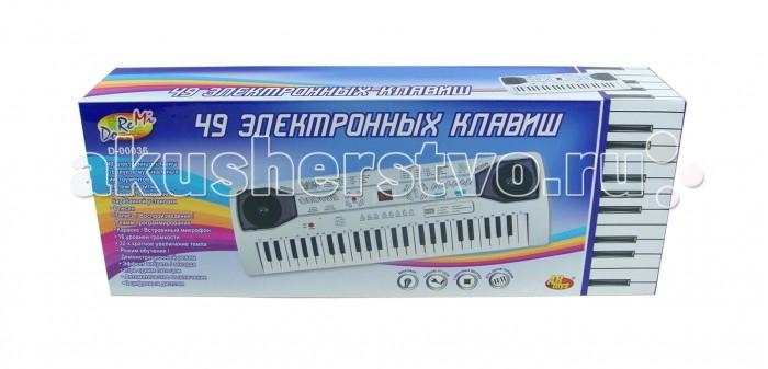 цена на Музыкальные игрушки DoReMi Синтезатор D-00036 49 клавиш