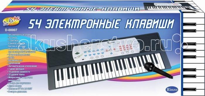 Музыкальная игрушка DoReMi Синтезатор 54 клавиши 96 смСинтезатор 54 клавиши 96 смDoReMi Синтезатор 54 клавиши привлечет внимание вашего ребенка и доставит ему много удовольствия от часов, посвященных игре с ним.  Особенности: Синтезатор оснащен регулятором громкости, благодаря которым вы не потревожите и домочадцев даже самых привередливых соседей, громкими звуками. Игра на музыкальных инструментах способствует развитию слуха и чувства ритма. Муз. инструмент 54 клавиши с микрофоном, длина 96 см, работает от батареек (не в комплекте) или встроенного адаптера (220V) 30 тембров 10 ритмов  6 видов ударных инструментов запись/воспроизведение  программирование ритма  Вибрация звука 7 демо мелодии 16 уровней громкости  16 уровней контроля темпа  функция обучения  2 стерео динамика<br>