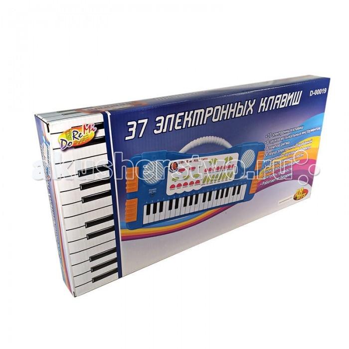 Музыкальные игрушки DoReMi Синтезатор D-00019(SD955) 37 клавиш twin set футболка с кружевом twin set j2a4fb 1014 кремовый m