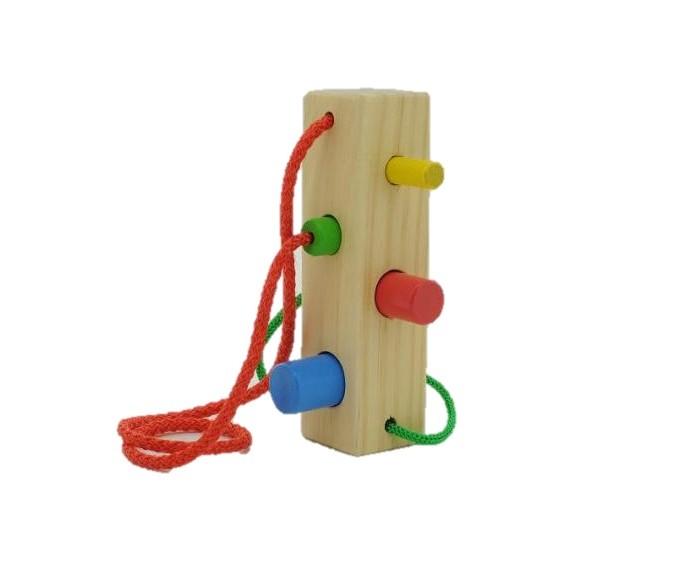Деревянные игрушки Мир деревянных игрушек (МДИ) Шнуровка-сортер Брусочек деревянные игрушки мир деревянных игрушек мди сортер лабиринт цирк
