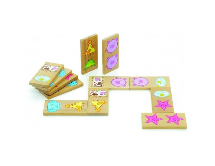 Деревянные игрушки Мир деревянных игрушек (МДИ) Домино Фигуры деревянные игрушки мир деревянных игрушек мди лабиринт лев