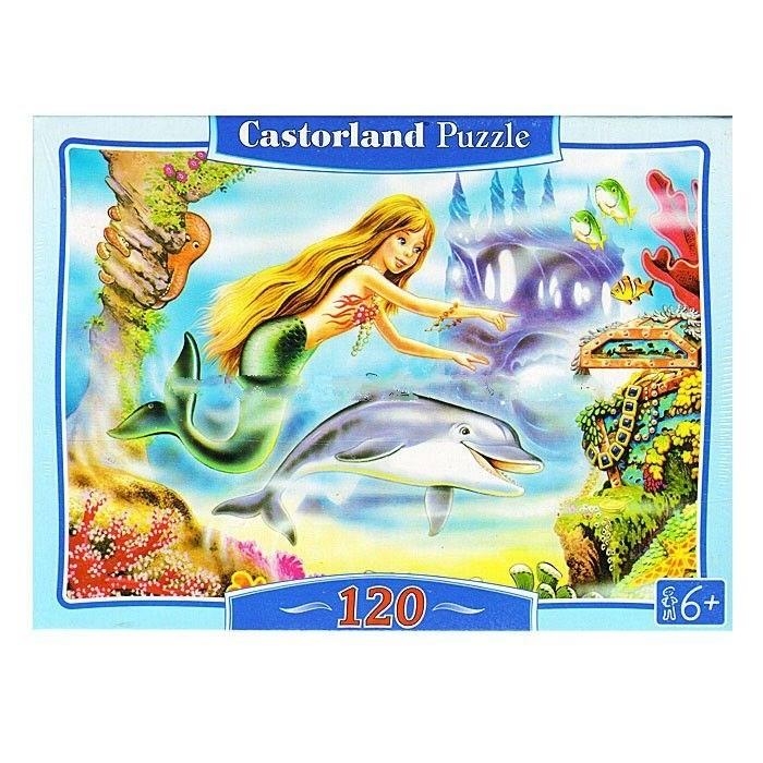 Пазлы Castorland Пазл Русалочка 120 элементов пазлы castorland пазл миди дюймовочка 120 элементов