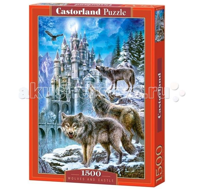 Пазлы Castorland Пазл Волки и замок 1500 элементов пазлы magic pazle объемный 3d пазл эйфелева башня 78x38x35 см