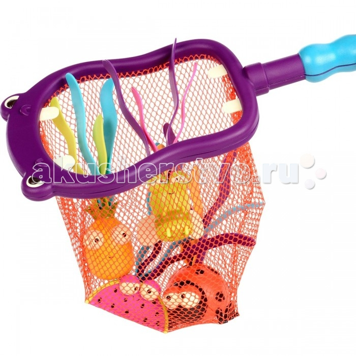 Игрушки для ванны Battat Набор игрушек для ванной Бегемот 4 игрушки и сачок мужские часы am pm pm139 u213