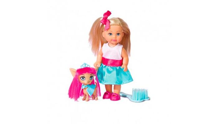 simba кукла еви с подружкой Куклы и одежда для кукол Simba Кукла Еви со стильной собачкой 12 cм