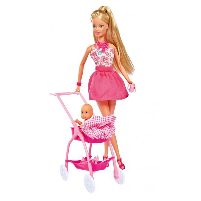 Куклы и одежда для кукол Simba Кукла Штеффи с ребёнком кукла simba кукла штеффи диджей