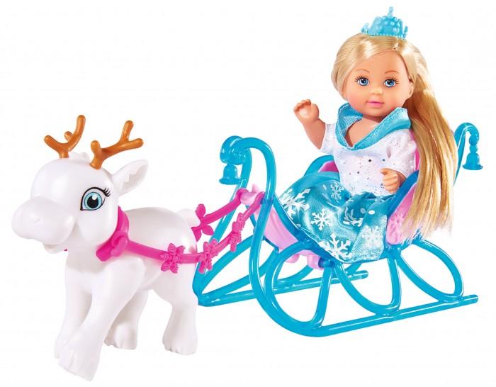 Куклы и одежда для кукол Simba Кукла Еви на санях 12 см куклы и одежда для кукол simba кукла еви со стильной собачкой 12 cм