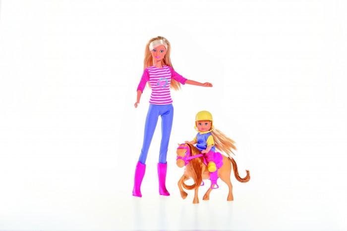 Куклы и одежда для кукол Simba Кукла Штеффи и Еви с пони на ферме куклы и одежда для кукол simba кукла еви с малышом на прогулке