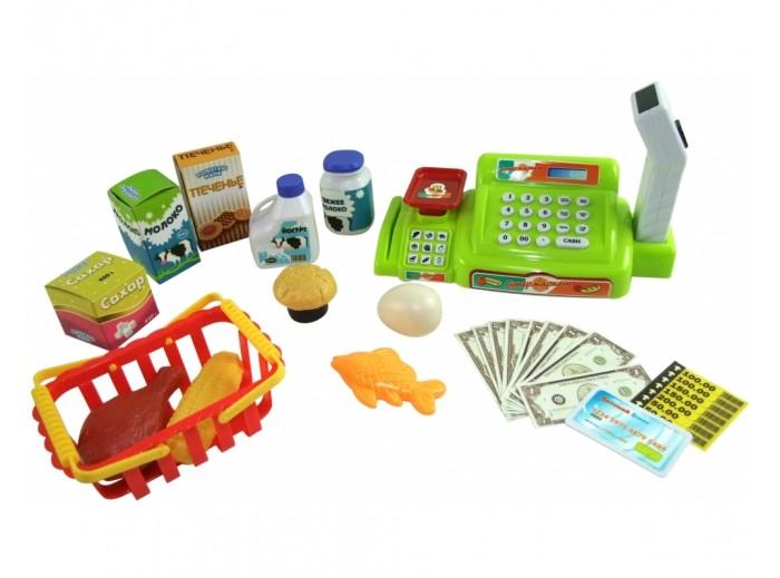ABtoys Помогаю Маме Касса эл/мех в наборе с продуктами в коробке от ABtoys