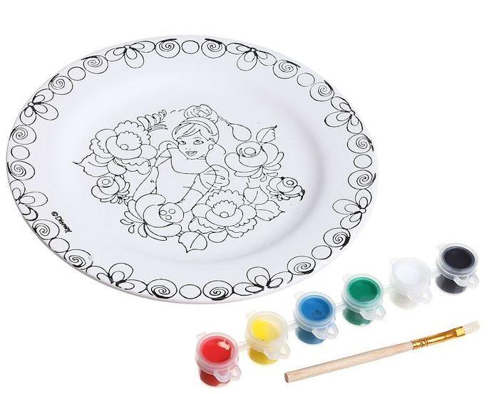Заготовки под роспись Disney Набор для росписи керамической тарелки Золушка заготовки под роспись disney набор для раскрашивания рюкзака холодное сердце