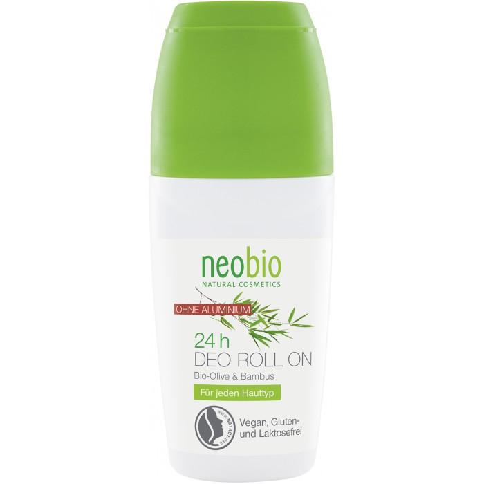 Косметика для мамы Neobio Дезодорант шариковый 24 часа с био-оливой и бамбуком 50 мл косметика для мамы sante дезодорант шариковый 24 часа 150 мл