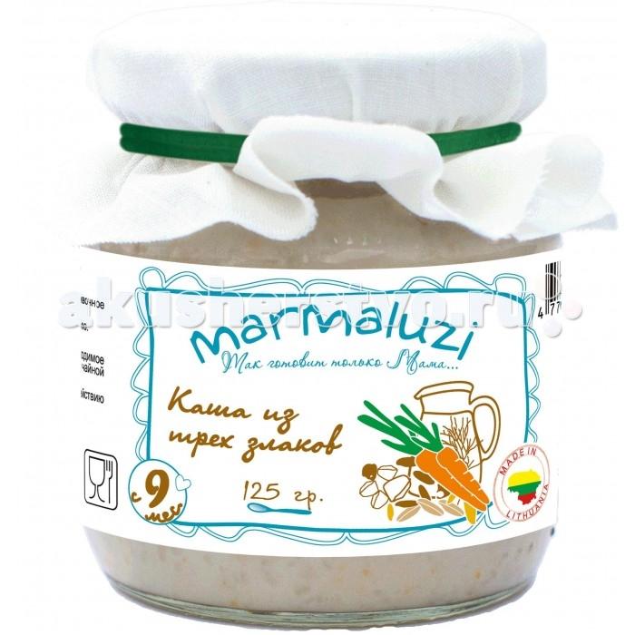 Каши Marmaluzi Молочная каша из 3-х злаков для детского питания с 9 мес. 125 г пюре marmaluzi пюре овощи со свеклой и языком с 9 мес 190 г