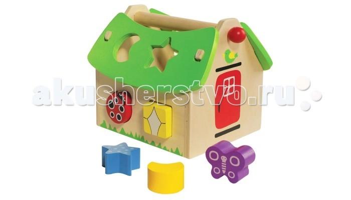 Деревянная игрушка Toys Lab Сортер Летний домикСортер Летний домикЯркий деревянный сортер Летний Домик от Toys Lab удивительная развивающая игрушка, которая заинтересует малыша своим красочным дизайном и различными возможностями.   Опуская геометрические фигуры в соответствующие отверстия различной формы, малыш познакомится с фигурами, размером и цветом предмета. Вытащить детали достаточно легко, необходимо просто снять крышку с одной стороны. Игрушка будет развивать у малыша мышление, память и координацию, а также мелкую моторику рук.   Домик и детали выполнены из натурального дерева и окрашены безопасной нетоксичной краской. Это очень важно для обеспечения безопасности малыша.<br>
