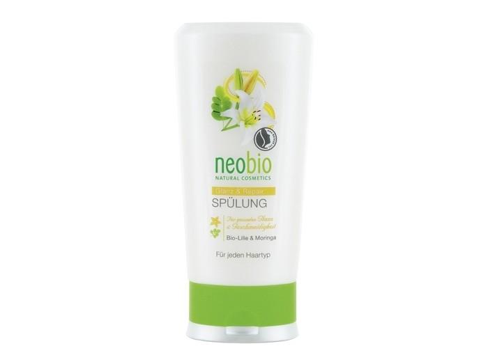 Косметика для мамы Neobio Кондиционер для восстановления и блеска волос с био-лилией и морингой 250 мл косметика для мамы logona сыворотка для интенсивного воcстановления блеска волос с био аргановым маслом 75 мл