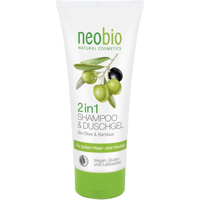 Косметика для мамы Neobio Шампунь-гель 2 в 1 c био-оливой и бамбуком 200 мл sante family шампунь для блеска с био апельсином и кокосом 200 мл