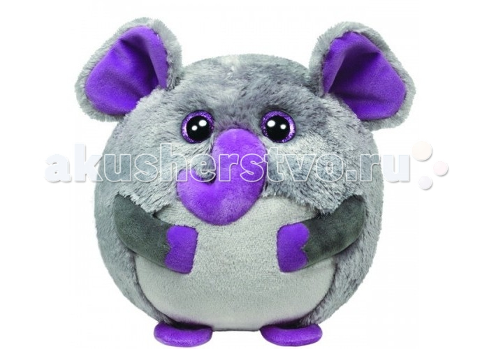 Мягкие игрушки TY Beanie Ballz Слон Thunder 20 см ty beanie boos original 6 18cm boom boom the purple panda beanie baby plush stuffed animal collectible soft doll toy kids gifts