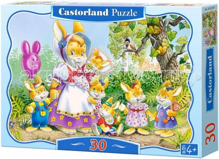 Пазлы Castorland Пазл Семья кроликов 30 элементов пазлы magic pazle объемный 3d пазл эйфелева башня 78x38x35 см