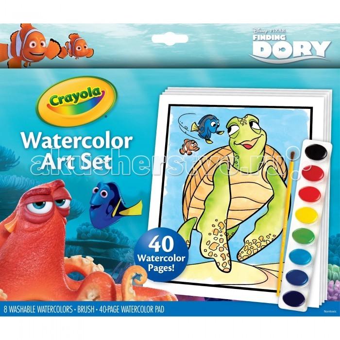 Творчество и хобби , Раскраски Crayola Набор с краской и раскрасками В поисках Дори арт: 215283 -  Раскраски