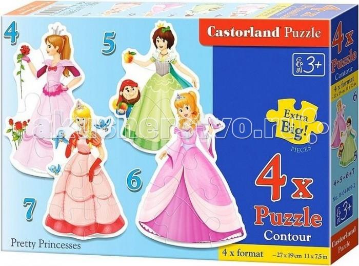 Пазлы Castorland Пазл 4 в 1 Принцессы 22 элемента пазлы castorland пазл 4 в 1 девочка и лошадь 180 элементов