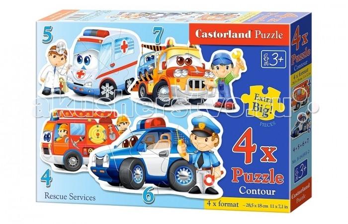 Пазлы Castorland Пазл 4 в 1 Спасательные службы 22 элемента castorland пазл для малышей в аэропорту