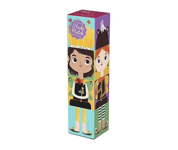Развивающие игрушки Krooom из картона Stack&Match кубики Лесные феи krooom из картона stack