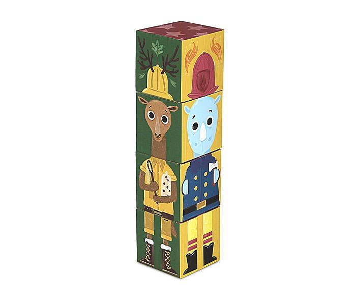 кубики Развивающие игрушки Krooom из картона Stack&Match кубики Приключения