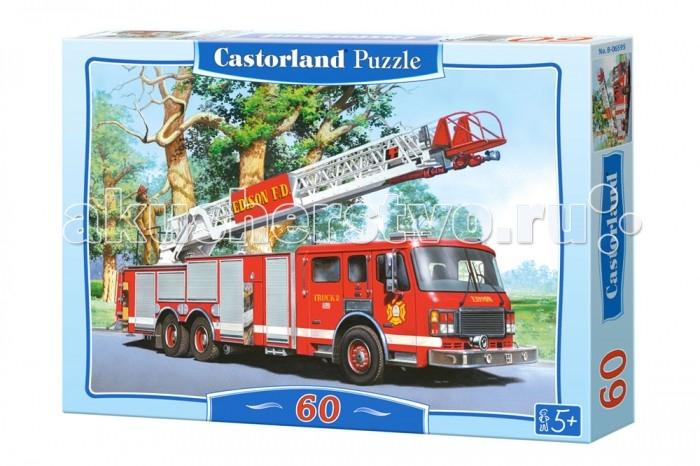 Пазлы Castorland Пазл Пожарная команда 60 элементов  castorland пазл сафари 60 элементов