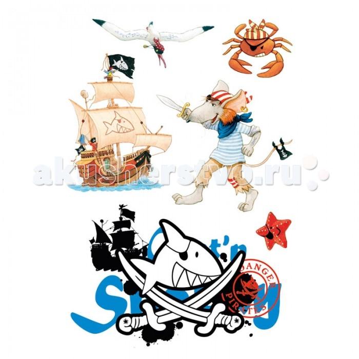 Детские наклейки Spiegelburg Наклейки для стен Captn Sharky 21302, Детские наклейки - артикул:215886