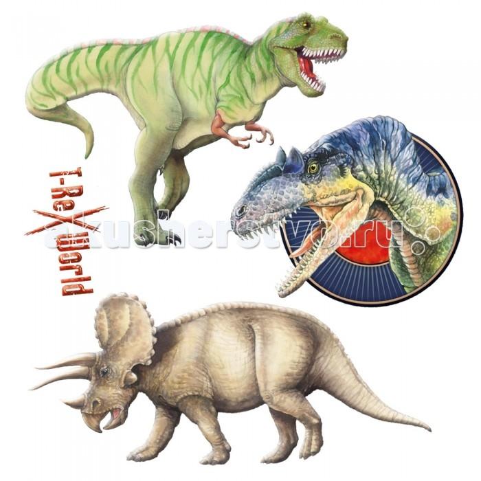 Детские наклейки Spiegelburg Наклейки флуоресцентные T-Rex 21547