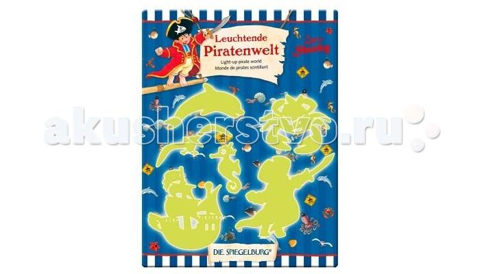 Детские наклейки Spiegelburg Наклейки флуоресцентные Captn Sharky 21574 наборы для творчества spiegelburg набор для детского творчества captn sharky 21364